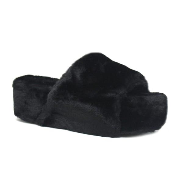 Elevated Platform Fuzzy Slippers