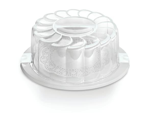 """11"""" White Cake Holder / Carrier"""