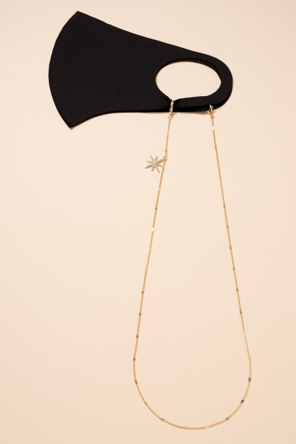 Gold Plated Northern Star Metal Chain Mask Lanyards