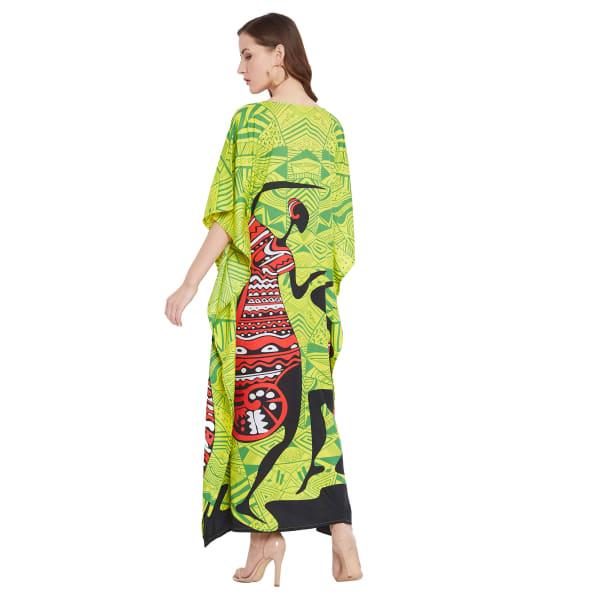 Dancing Handmade Tribal Printed Kaftan Dress