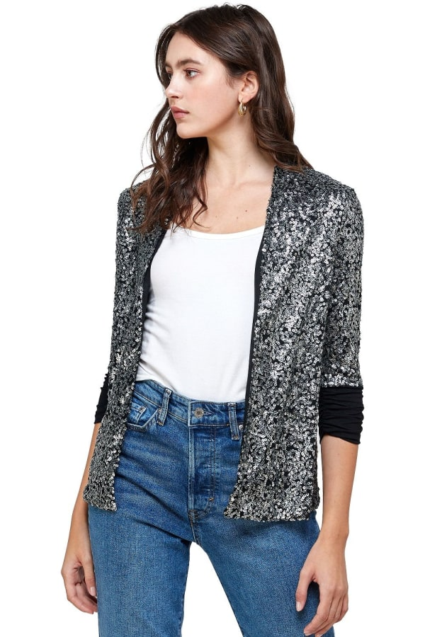Sequins Cover Up Party Blazer Top