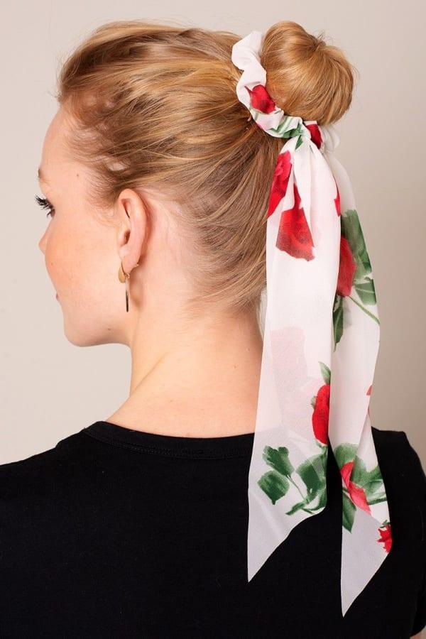 Floral Print Ponytail Scrunchies