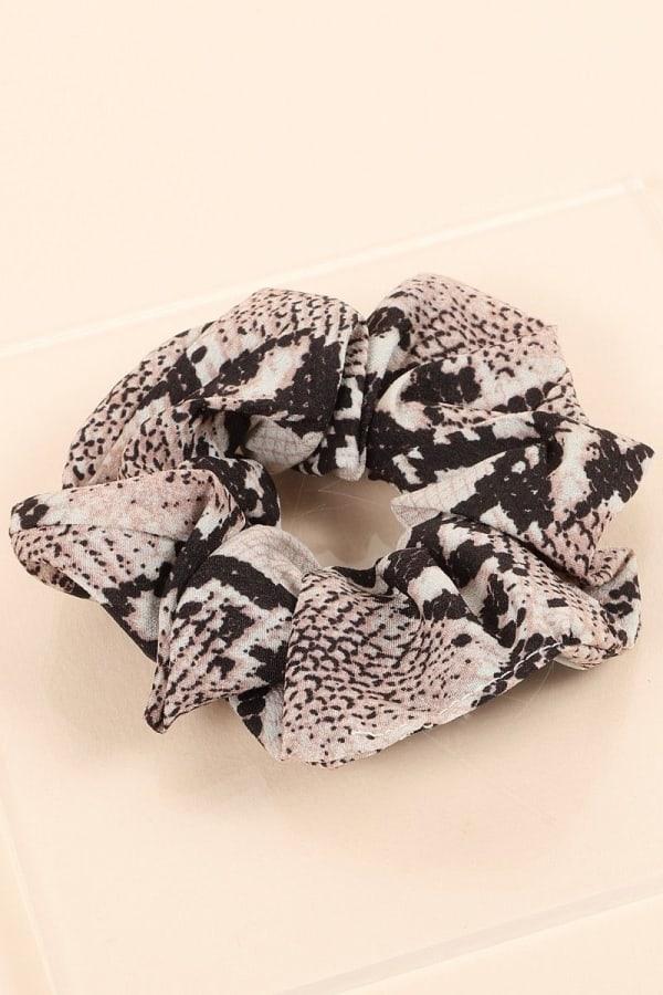 Snake Print Hair Scrunchy
