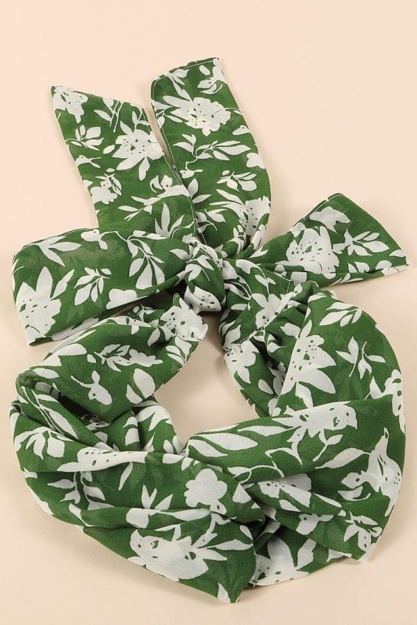Floral Print Twisted Headband