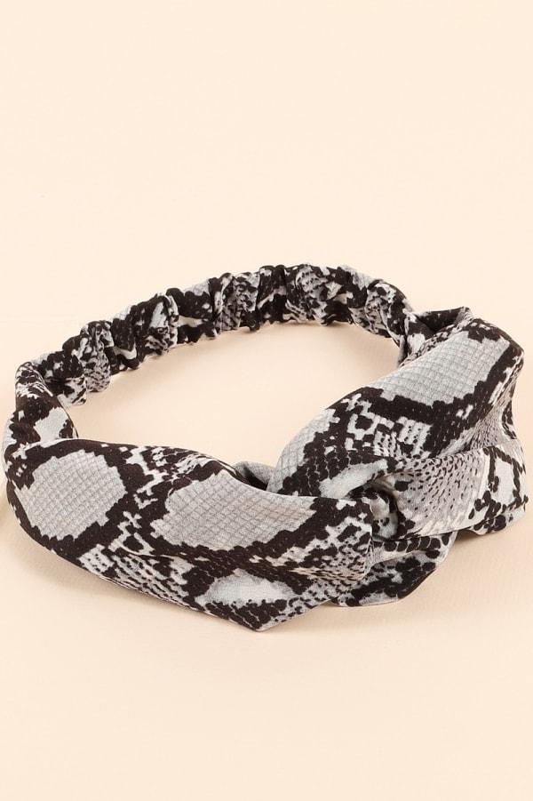 Snake Print Twisted Head Wrap