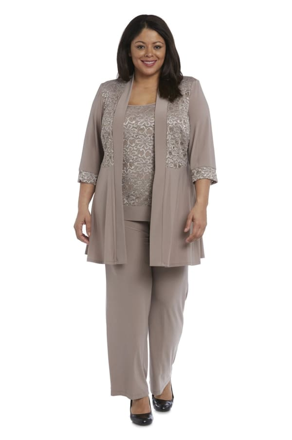 Faux Trouser Set with Lace and Sequin Detailing - Plus