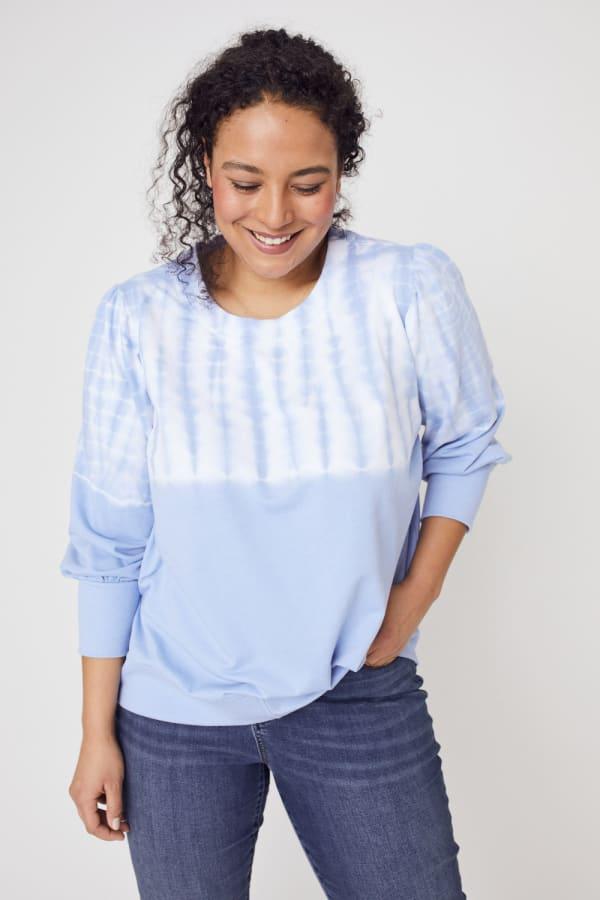 Westport Tie Dye Side Knot Sweater - Plus