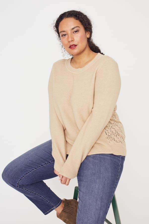 Westport Novelty Back Pullover Sweater - Plus