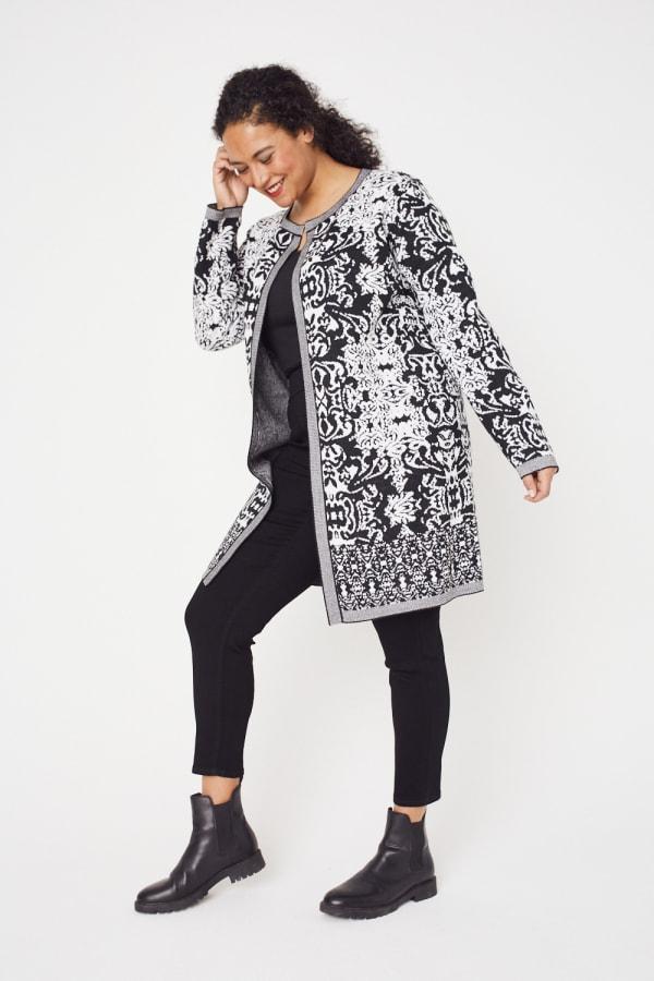 Scroll Coatigan Sweater - Plus