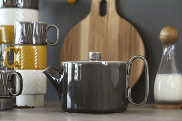Coffee & More Teapot - Grey