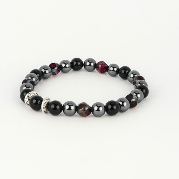 Dell Arte by Jean Claude 8mm Rare Ruby Pomegranate Spiritual And Powerful Beads Bracelet