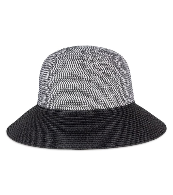 Contrast Brim Straw Bucket Hat