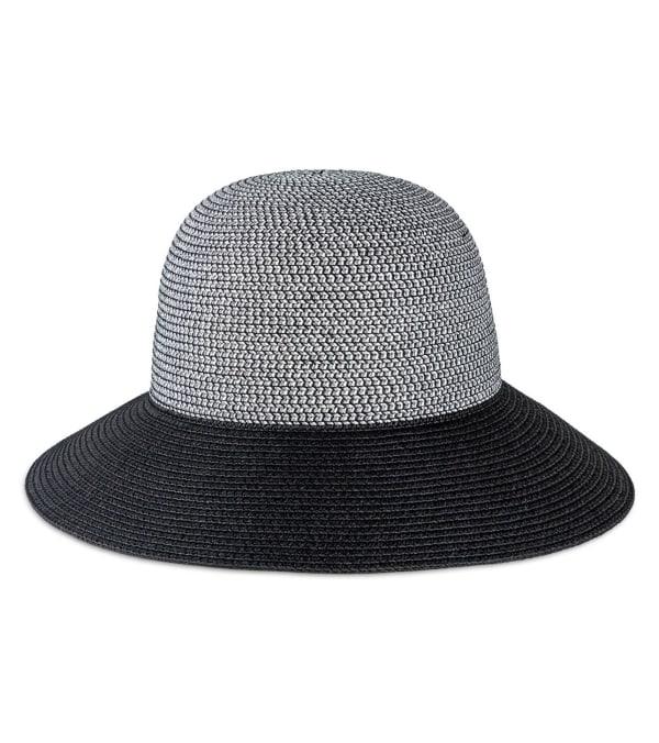 Solid Color Straw Bucket Hat