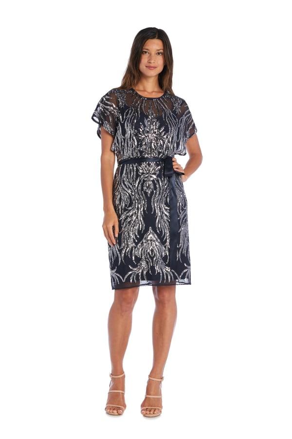 Sequin Embellished Sheath Dress
