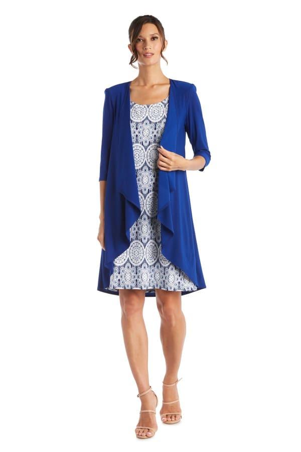 Printed Dress & Jacket