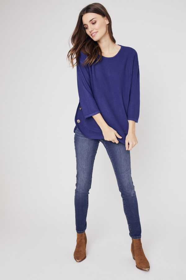 Westport Curved Hem Tunic Sweater