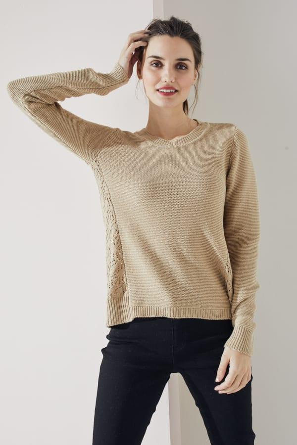 Westport Novelty Back Pullover Sweater