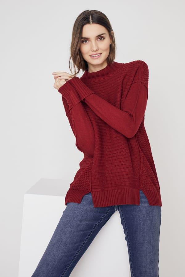 Westport Mixed Stitch Pullover Sweater
