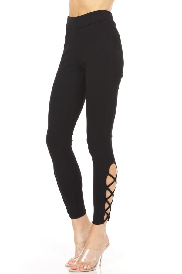 Legging With Lattice Detail