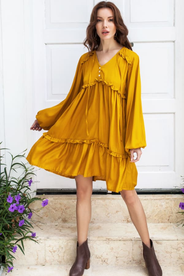 Texas Rose Boho Dress - Plus