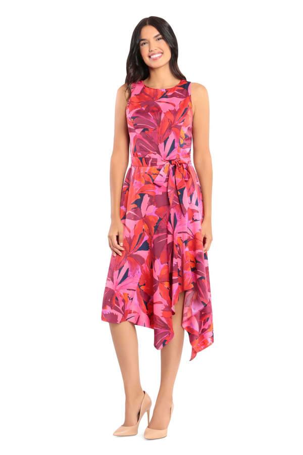 Dawn Tropical Hanky Hem Dress