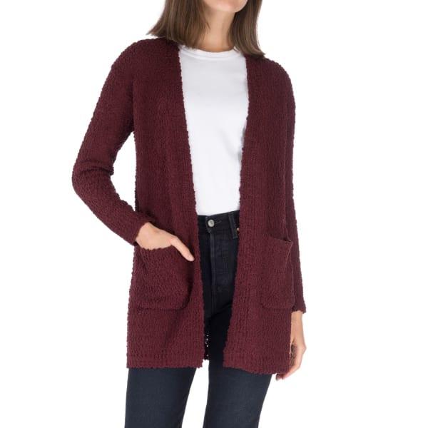 Long Sleeve 2 Pocket Boucle Cardigan