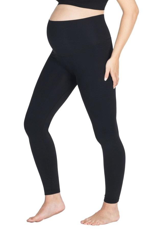 Modern Eternity Ella Seamless Yoga Maternity leggings - Black - Front