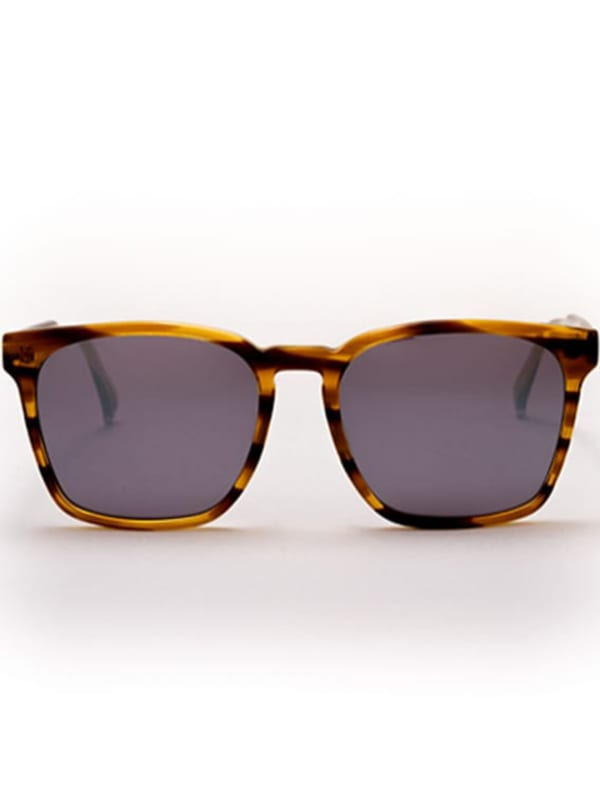 Banks Sunglasses - Brown Stripes / Silver Mirror - Front
