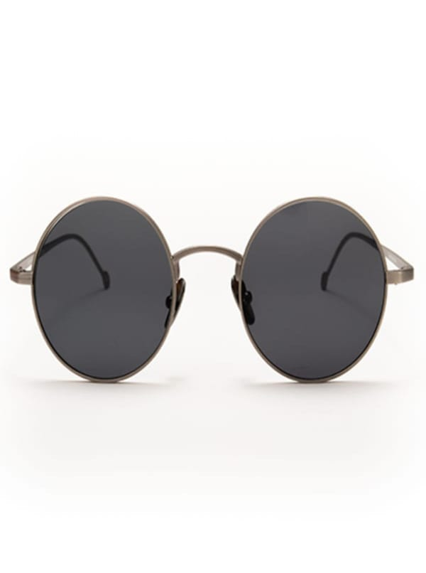 Jamie Sunglasses - Silver / Green - Front