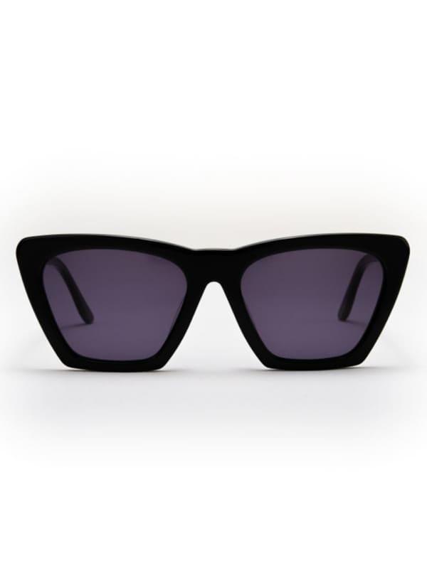 Iris Sunglasses - Black / Dark Grey - Front