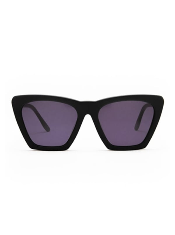 Iris Sunglasses -Matte Black / Dark Grey - Front