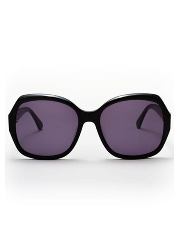 Pascha Sunglasses - Black / Dark Grey - Front