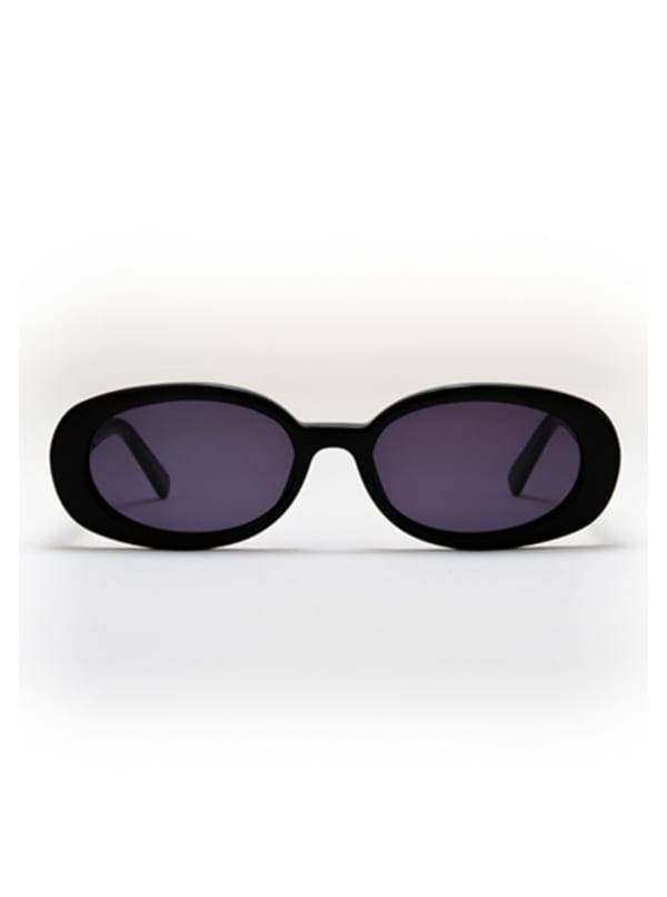 Asa Sunglasses - Black / Dark Grey - Front