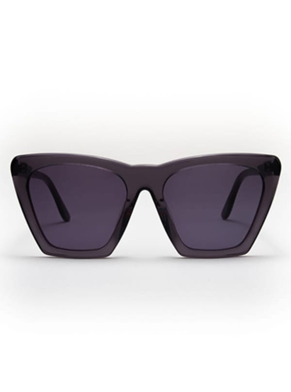 Iris Sunglasses -Transparent Grey / Dark Grey - Front