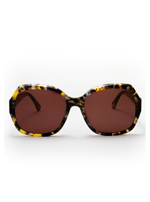 Pascha Sunglasses - Grey Tortoise / Brown - Front