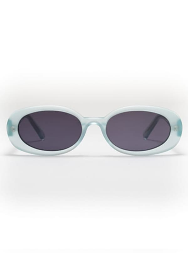 Asa Sunglasses - Transaprent Light Blue / Dark Grey - Front