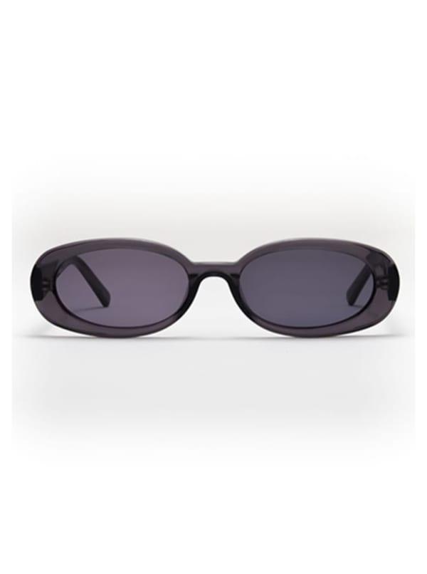 Asa Sunglasses - Transparent Grey / Dark Grey - Front