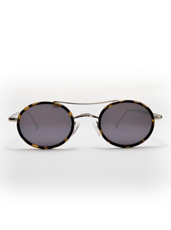 Mason Sunglasses - Yellow Tortoise / Shiny Silver / Silver Mirror - Front