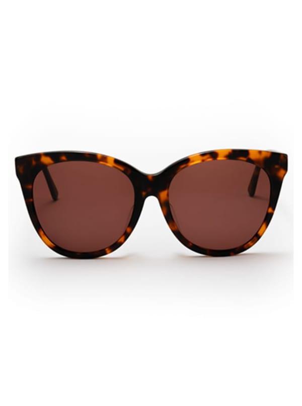 Joella Sunglasses - Brown Tortoise / Dark Brown - Front