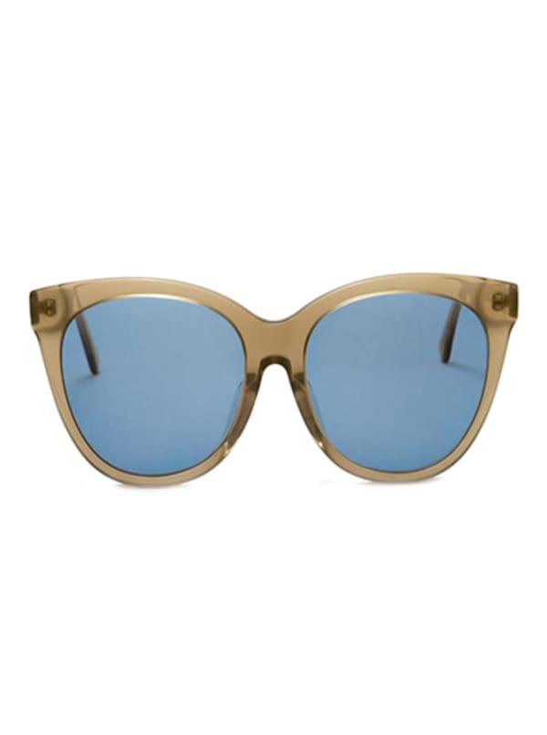 Joella Sunglasses - Transparent Oliver Green / Light Blue - Front