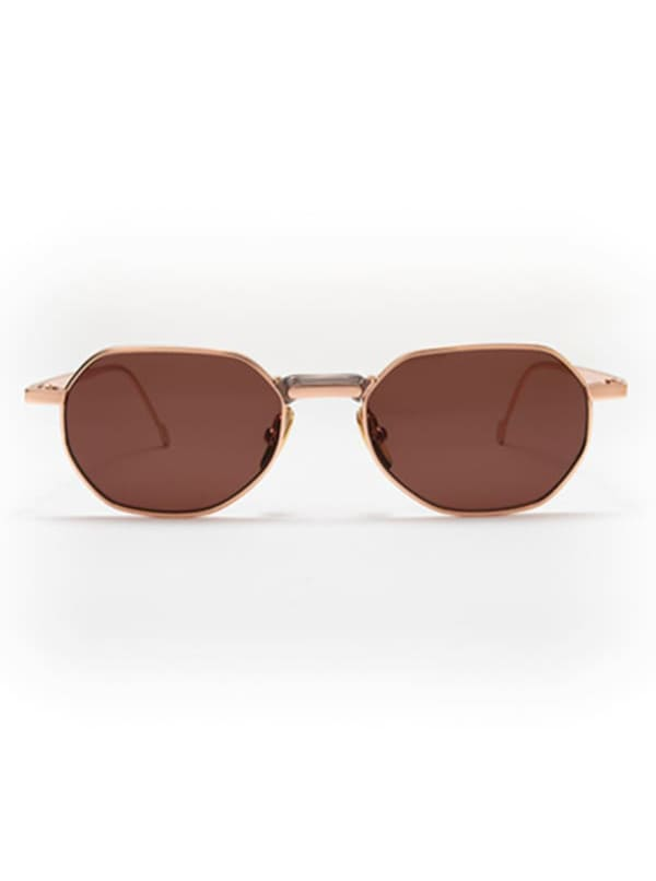 Galo Sunglasses - Gold / Brown - Front