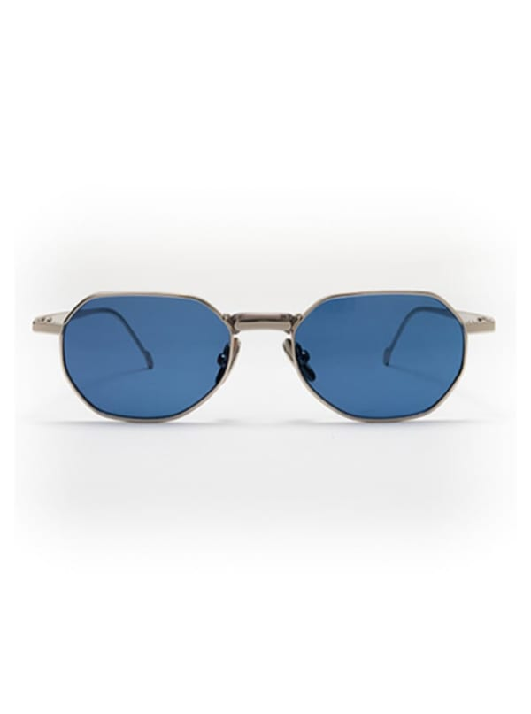Galo Sunglasses - Silver / Blue - Front
