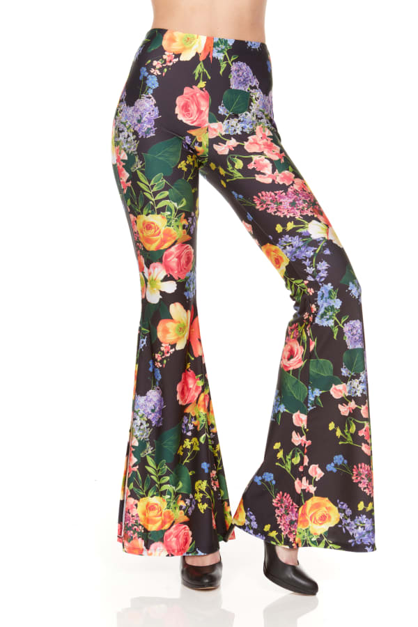 Wide Leg Pull On Pant With Floral Print