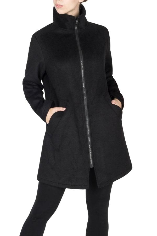 Modern Eternity Khloe 3 in 1 Wool Maternity Coat Semi Fitted