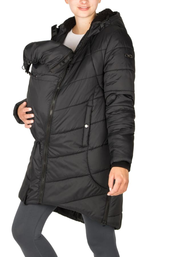 Modern Eternity Harper 3 in 1 Maternity Coat Cocoon Mid Thigh