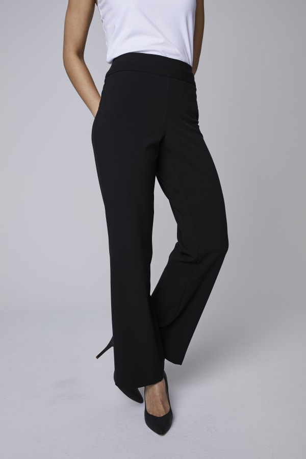 Roz & Ali Secret Agent Tummy Control Pants - Petite - Black - Front