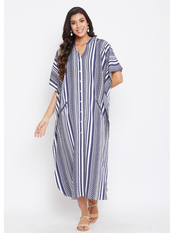 Button Kaftan Dress for Women - Plus