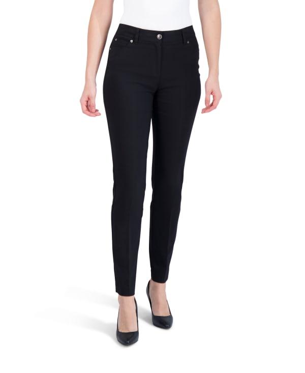 Zac & Rachel 5-Pocket Slim Leg Pant - Black - Front