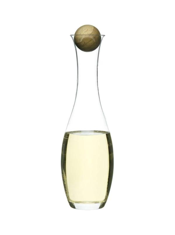 Nature Wine/Water Carafe W/Oak Stopper