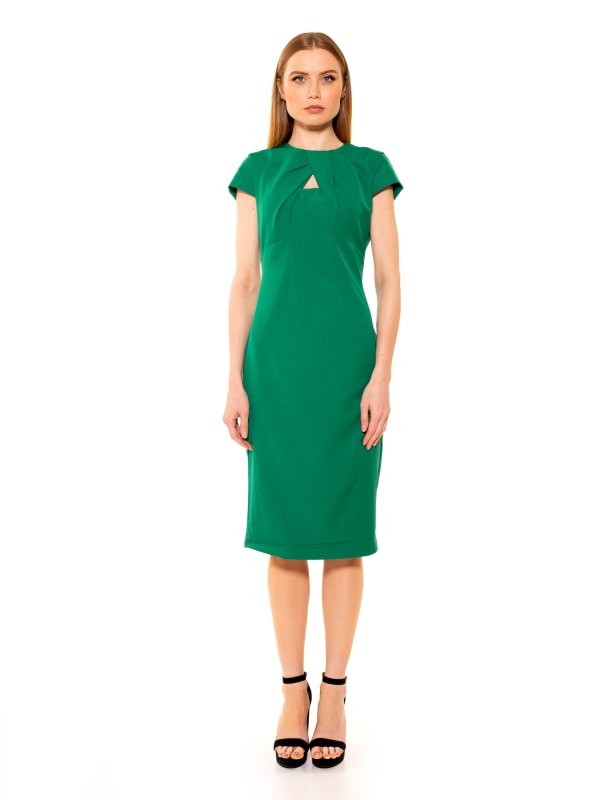 Bella Cap Sleeve Keyhole Sheath Dress